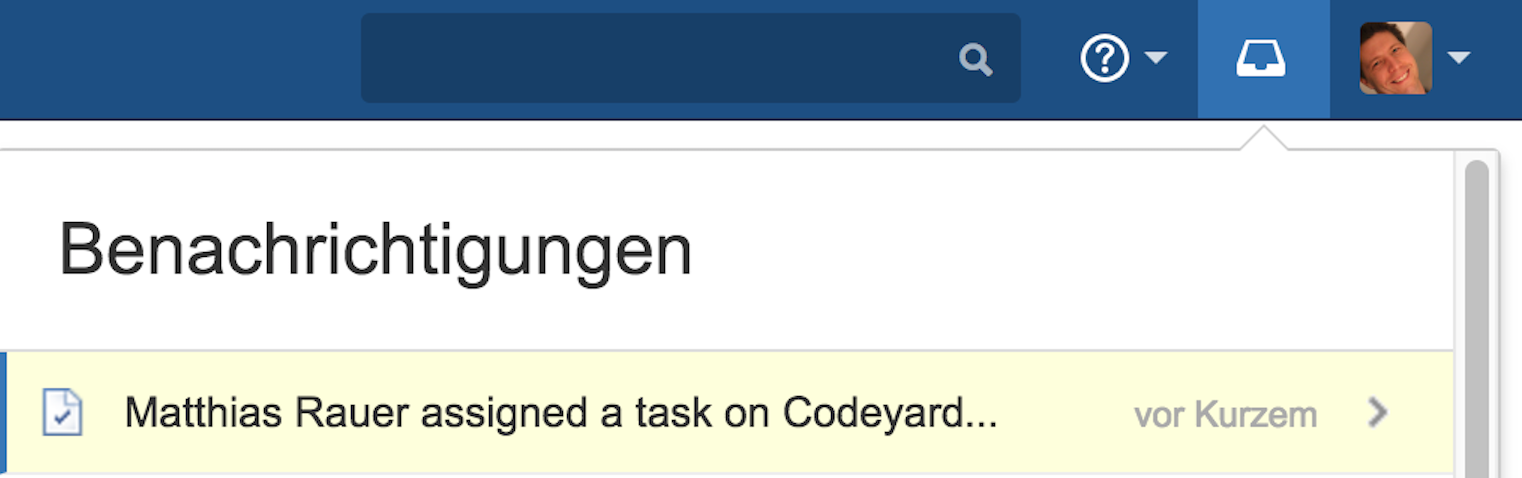 Automatic notification of a new Confluence task