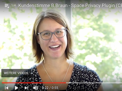Asja Hermanns (B.Braun) teilt ihre Erfahrungen mit den //SEIBERT/MEDIA Plugins Space Privacy, Microblogging, Enterprise News Bundle und Custom User Profile.