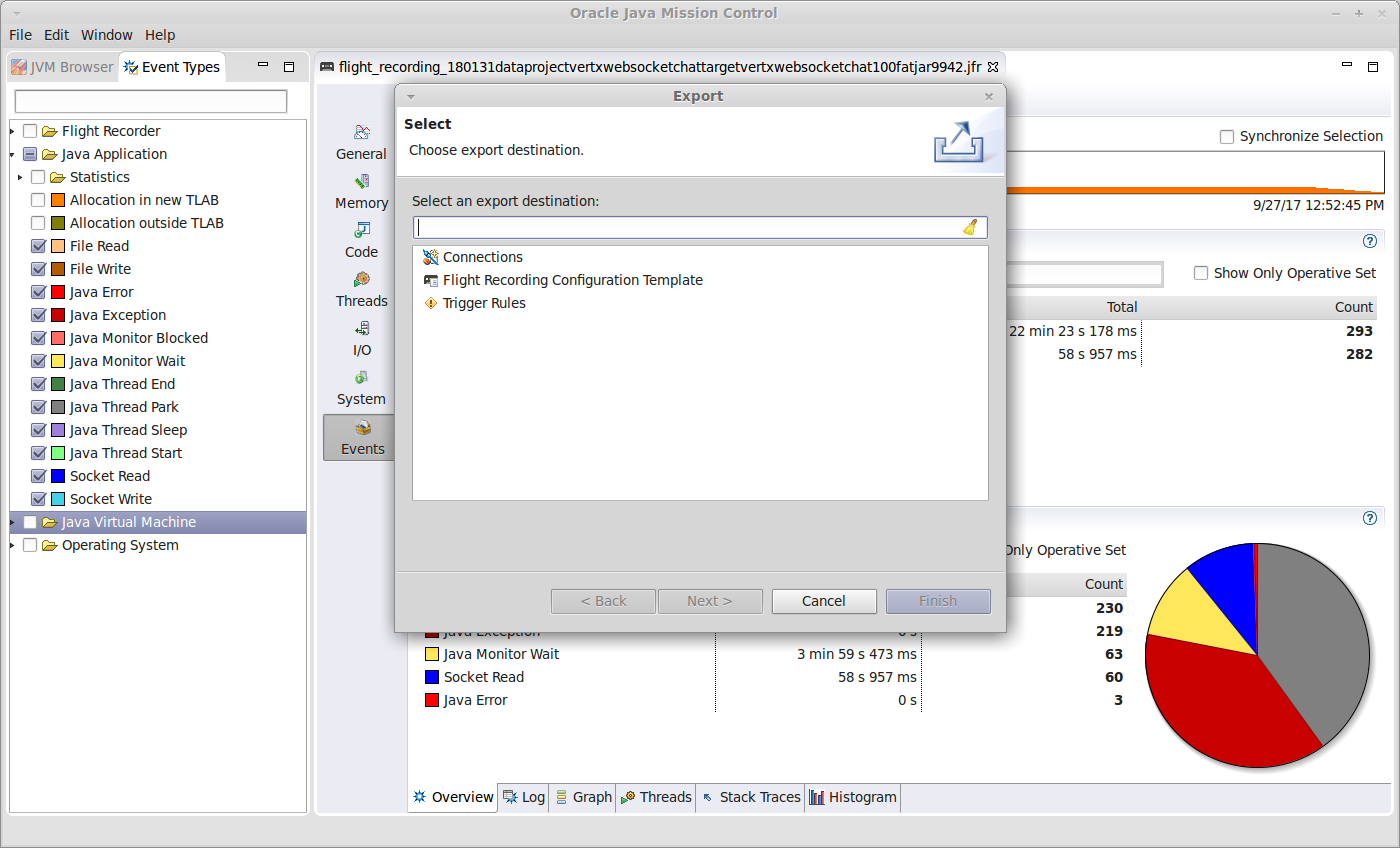 JMC Exportfunktion