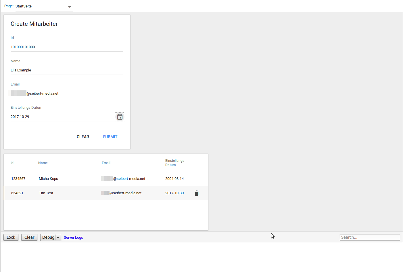 Google App Maker - preview the form and see how it works