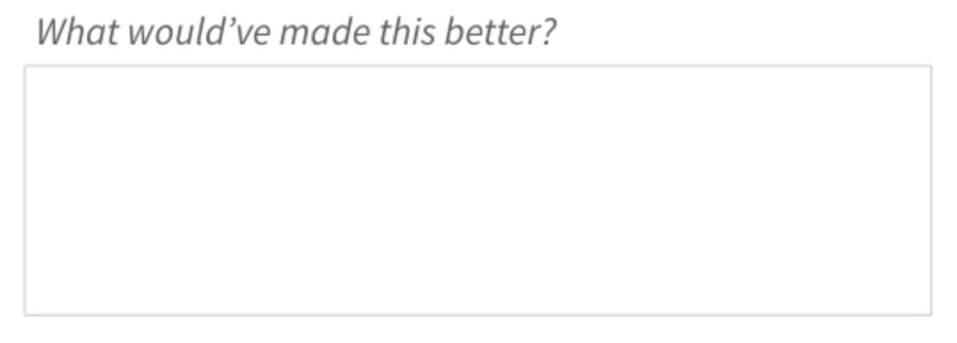 Net Promoter Score - Folgefrage