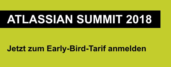 Atlassian Summit 2018 Anmeldung