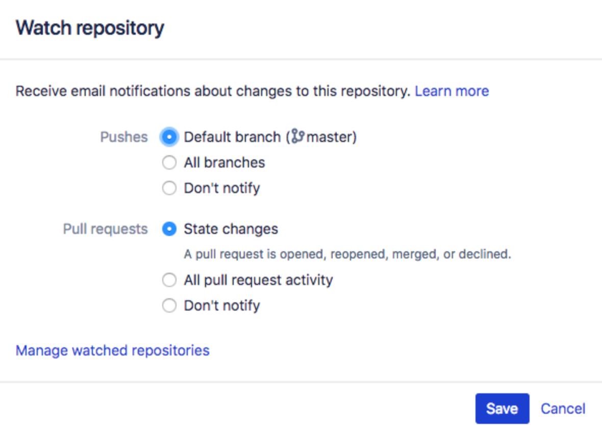 Bitbucket Server Repositories beobachten
