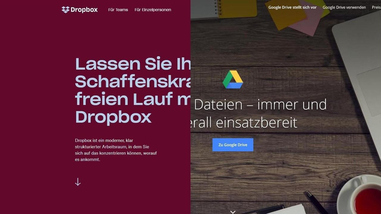 Dropbox und Google Drive im Vergleich