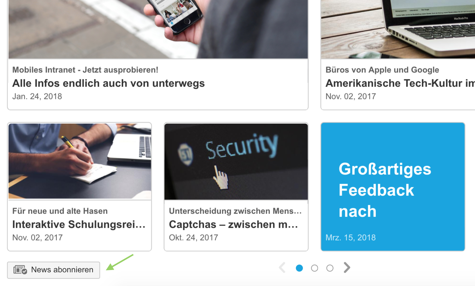 Enterprise News Bundle für Confluence
