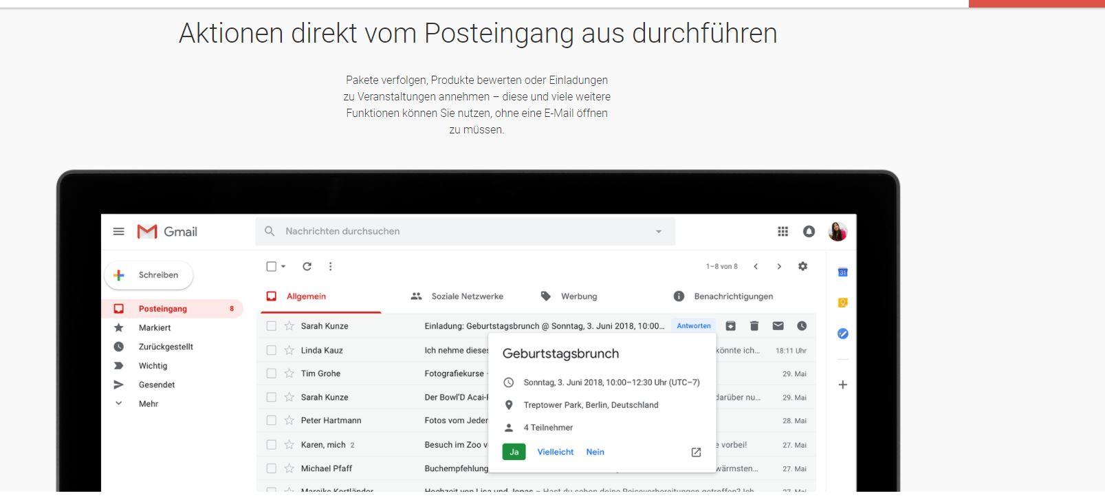 Gmail: Posteingang organisieren