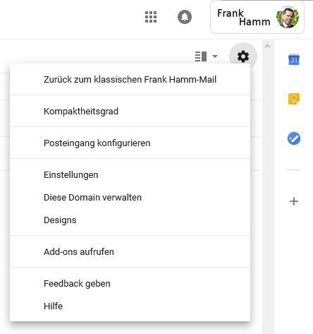 Wechseln zurück zum klassischen Gmail