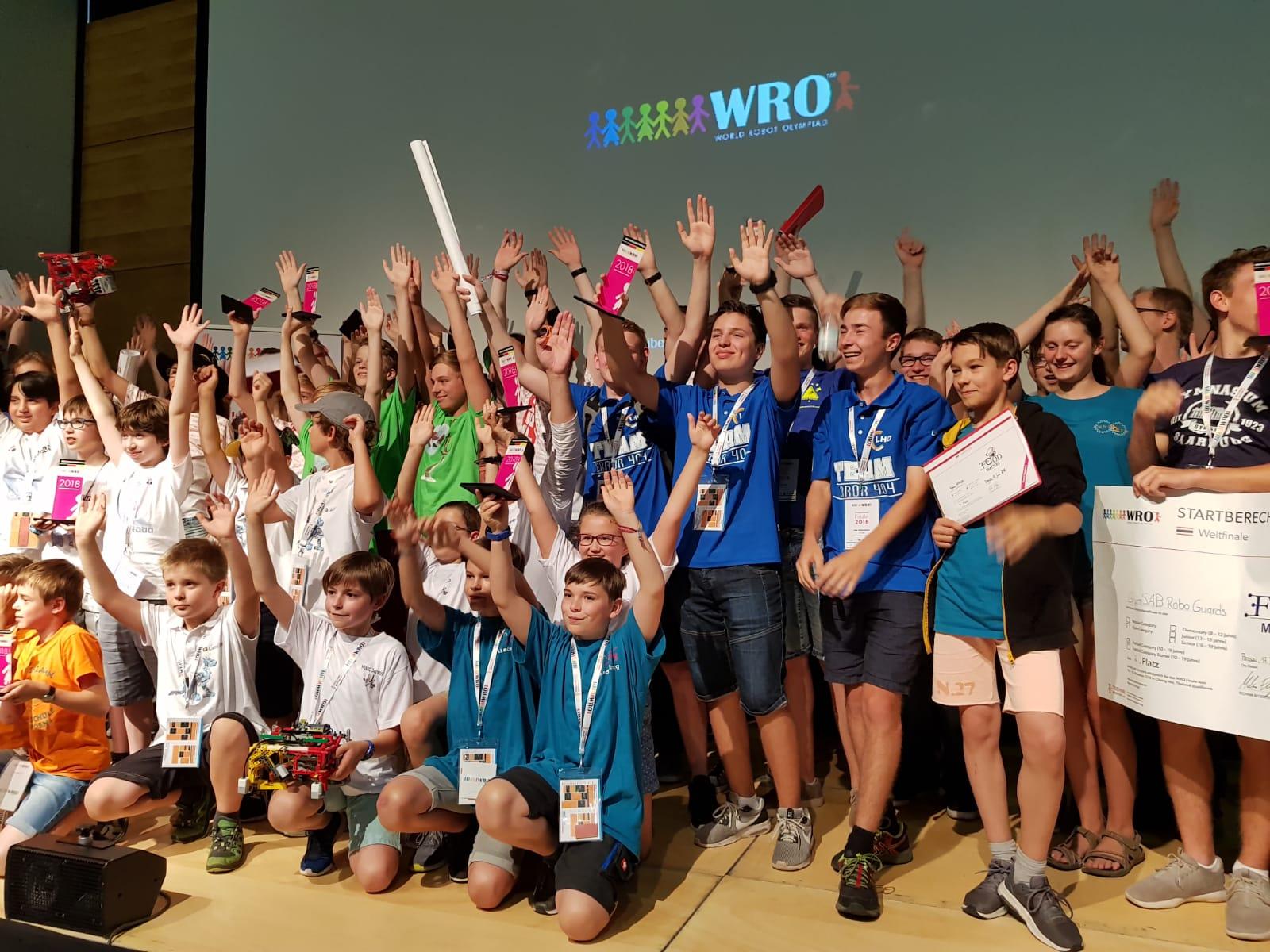 Alle Siegerteams des WRO-Deutschlandfinales 2018 in Passau