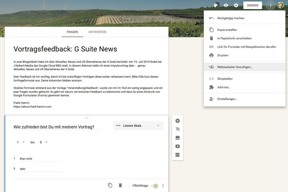 G Suite: Google Forms