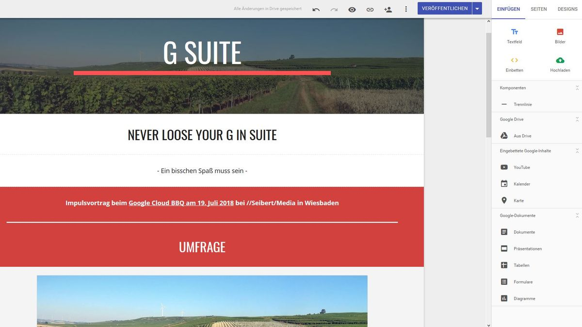 G Suite: the new Google Sites