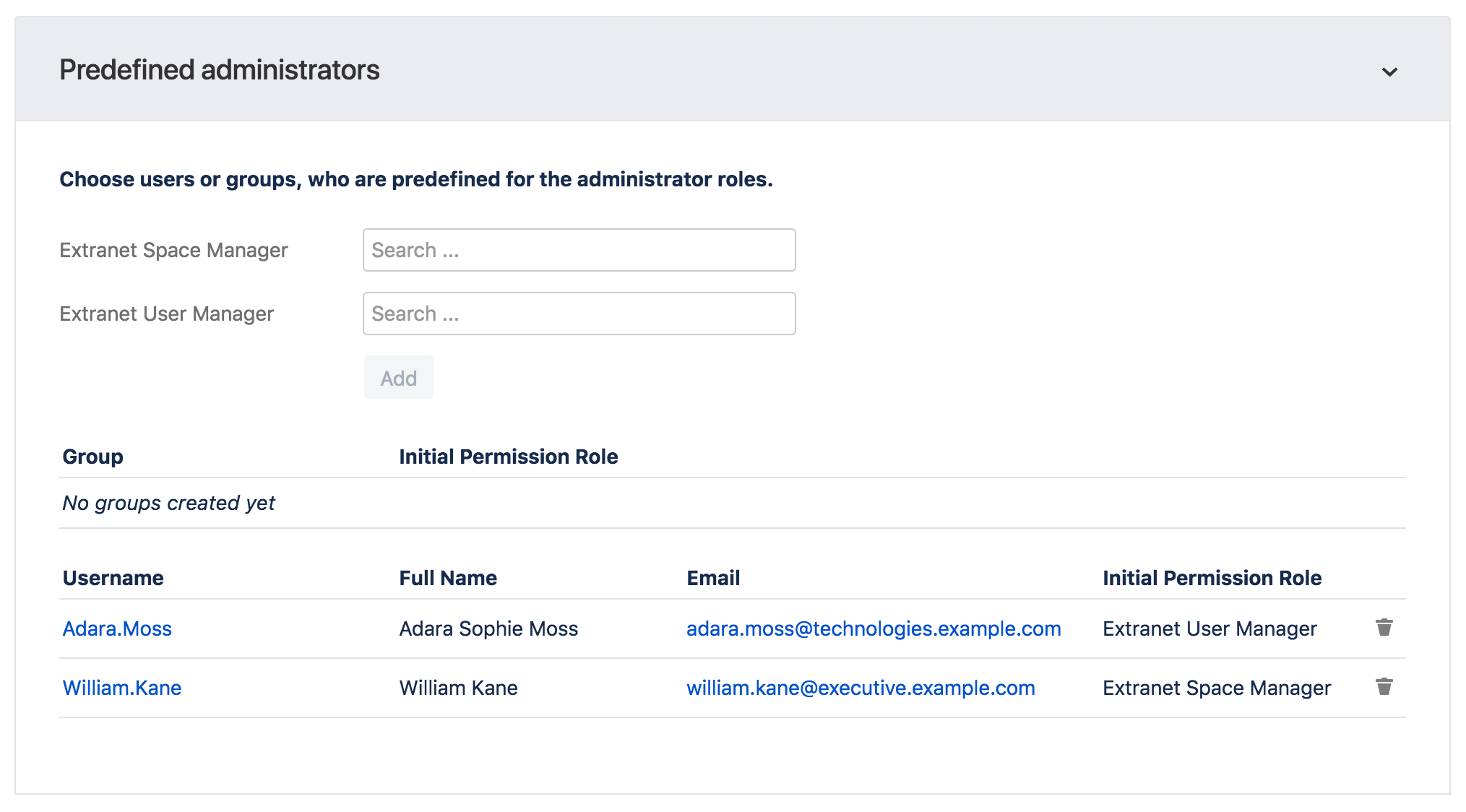 There are also predefined administrator roles without administrator permissions.