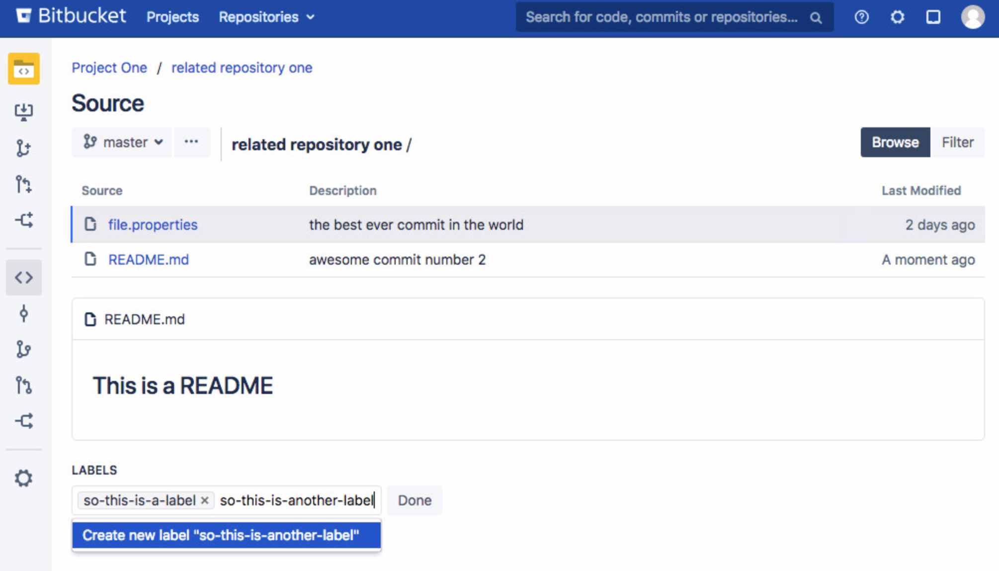 Bitbucket Server Tagging