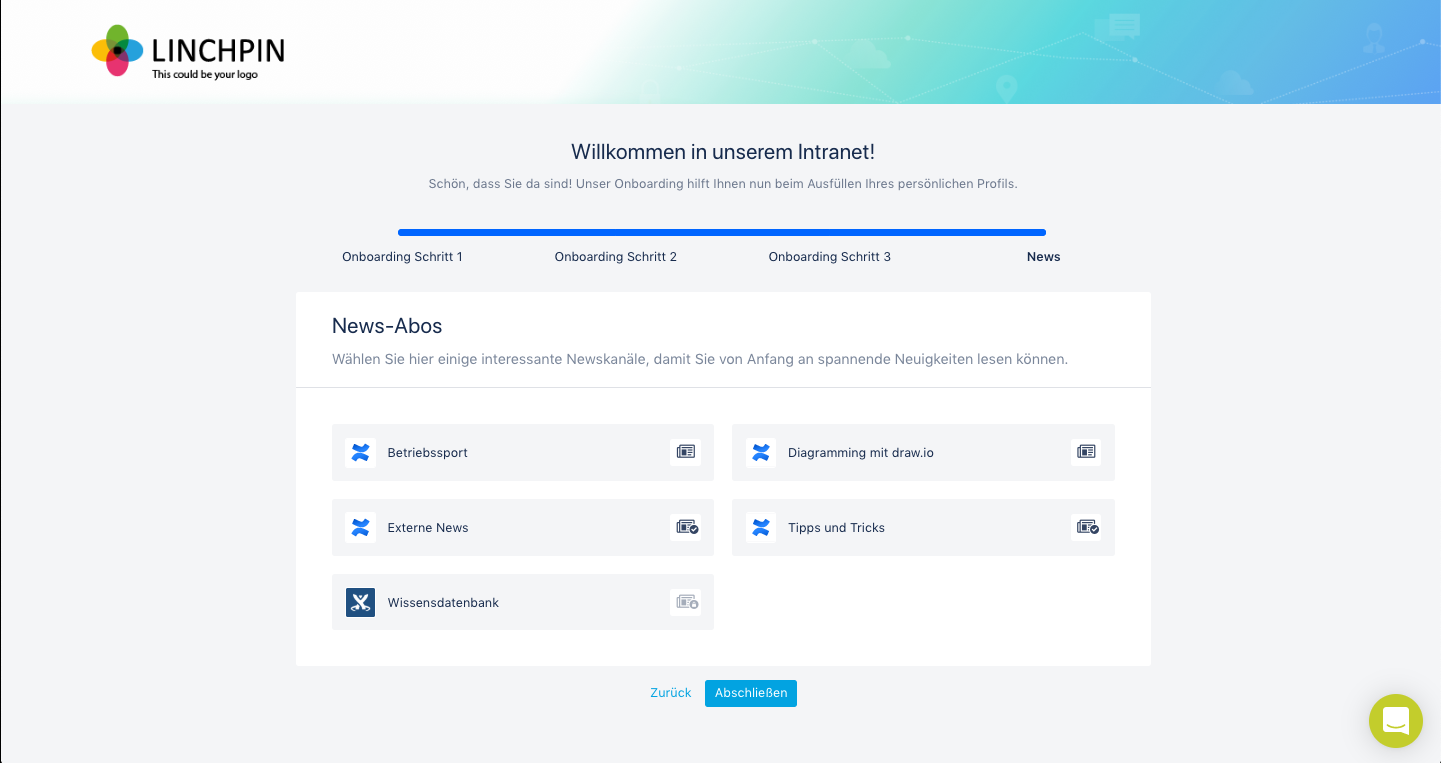Linchpin Suite - Onboarding