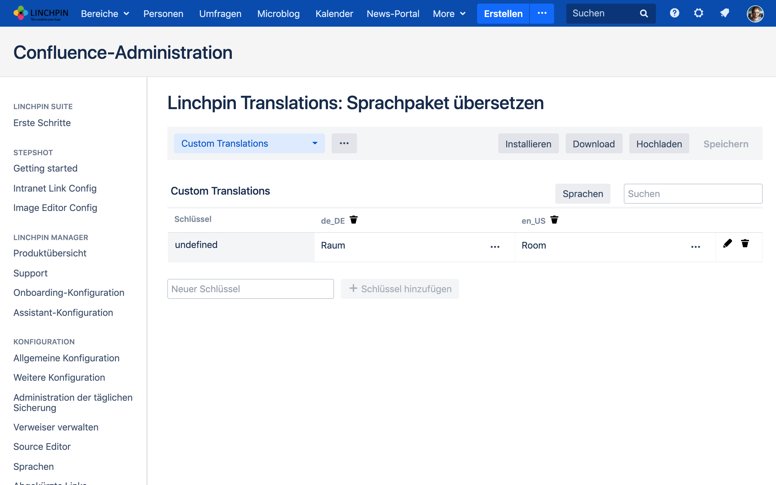 Linchpin Suite - Translations