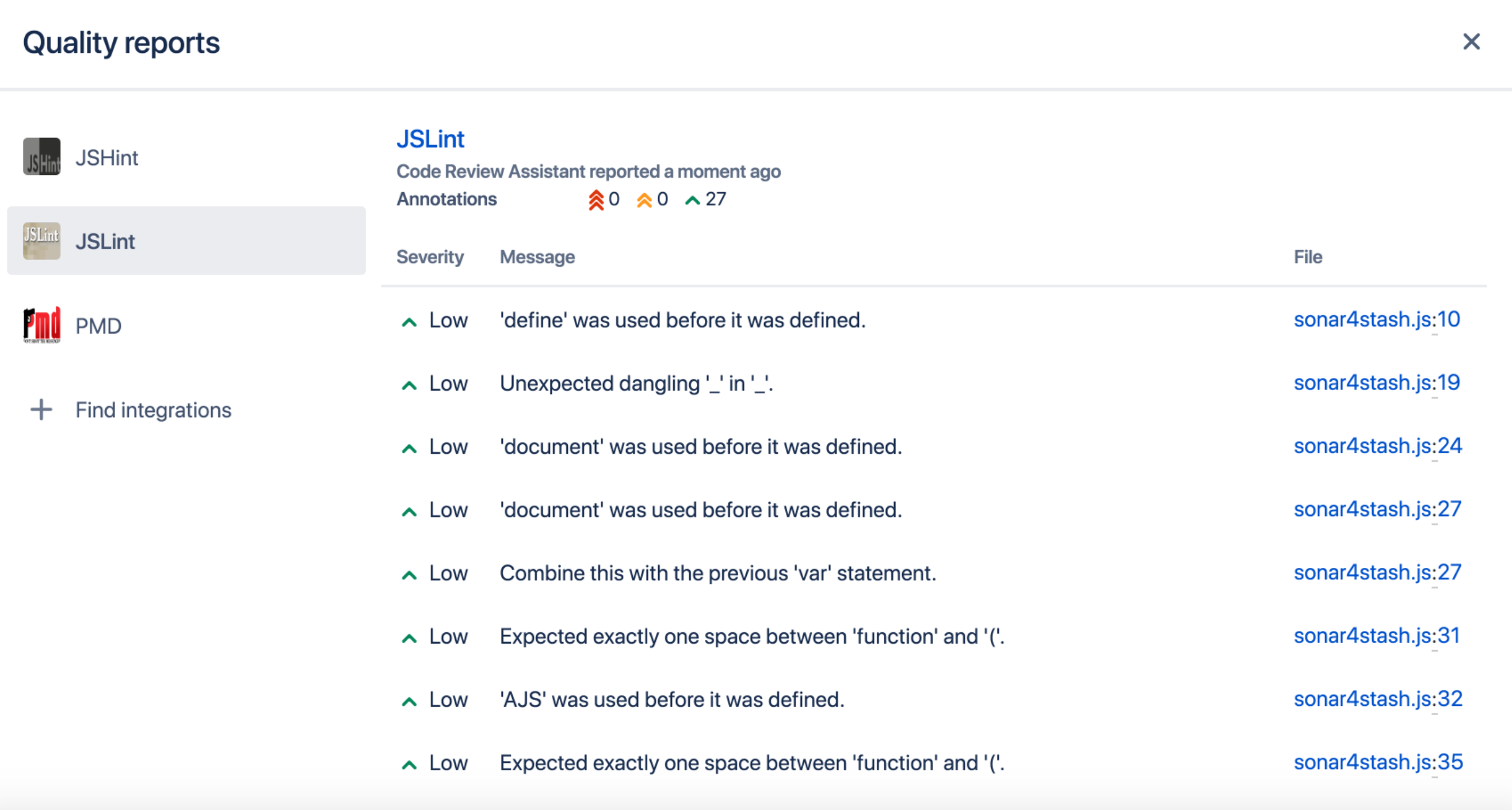 Bitbucket Code Insights