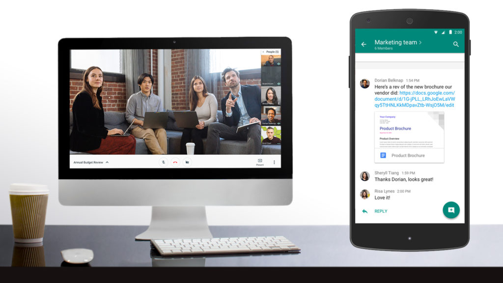 Hangouts Meet und Hangouts Chat
