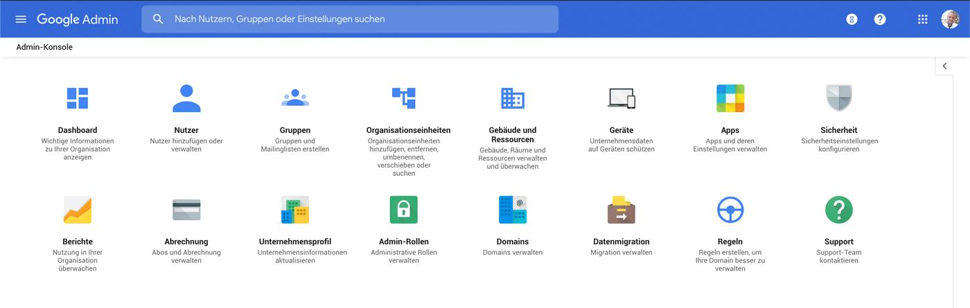 Google-Admin-Konsole für eine einfache Verwaltung der IT in Agenturen