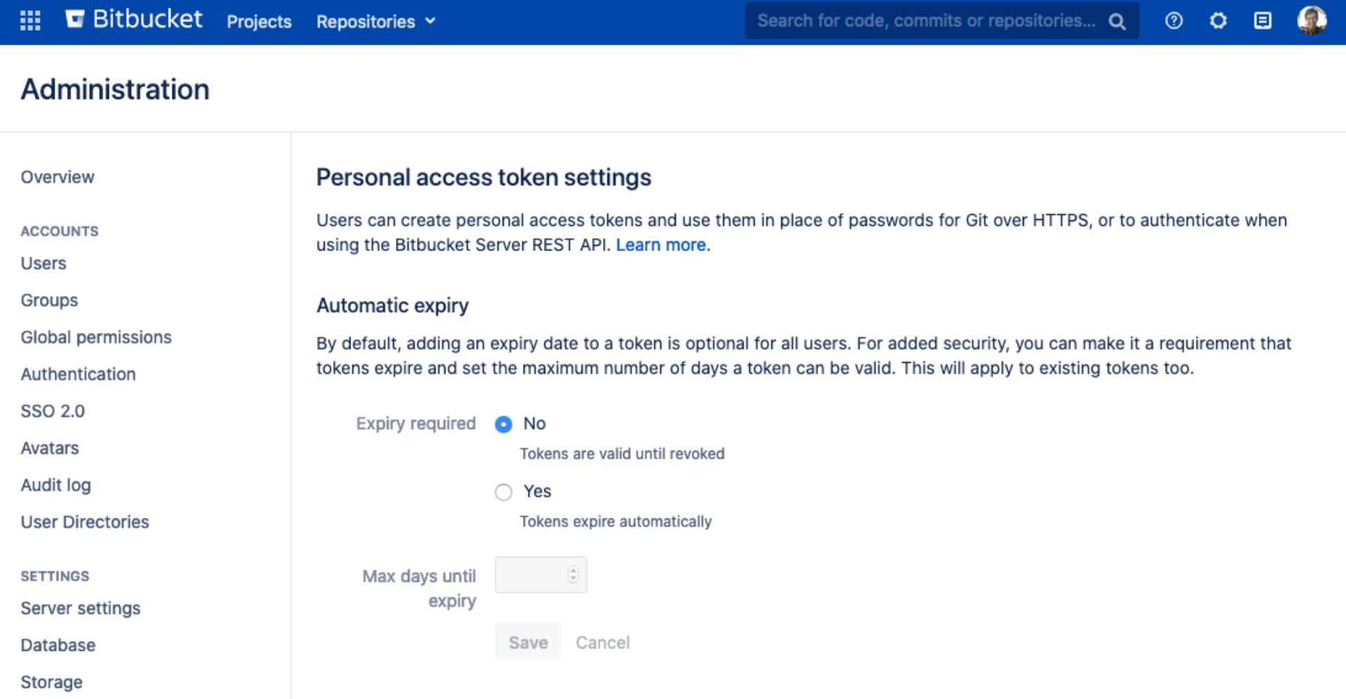 Bitbucket Access Tokens
