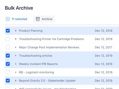 Confluence Cloud Archivierung