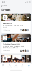 Linchpin Intranet - mobile Events