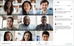 Fragen & Antworten in Google Meet