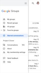 Google Groups Markierung
