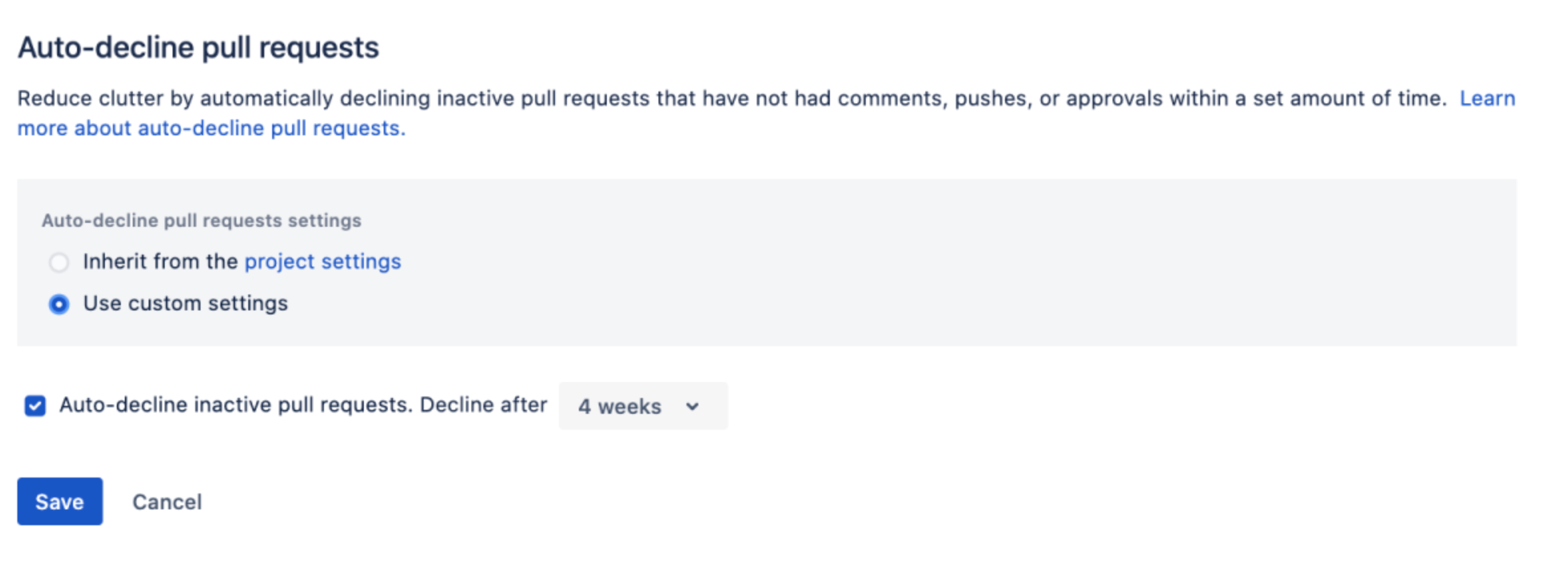 Bitbucket Auto-decline Pull-Requests