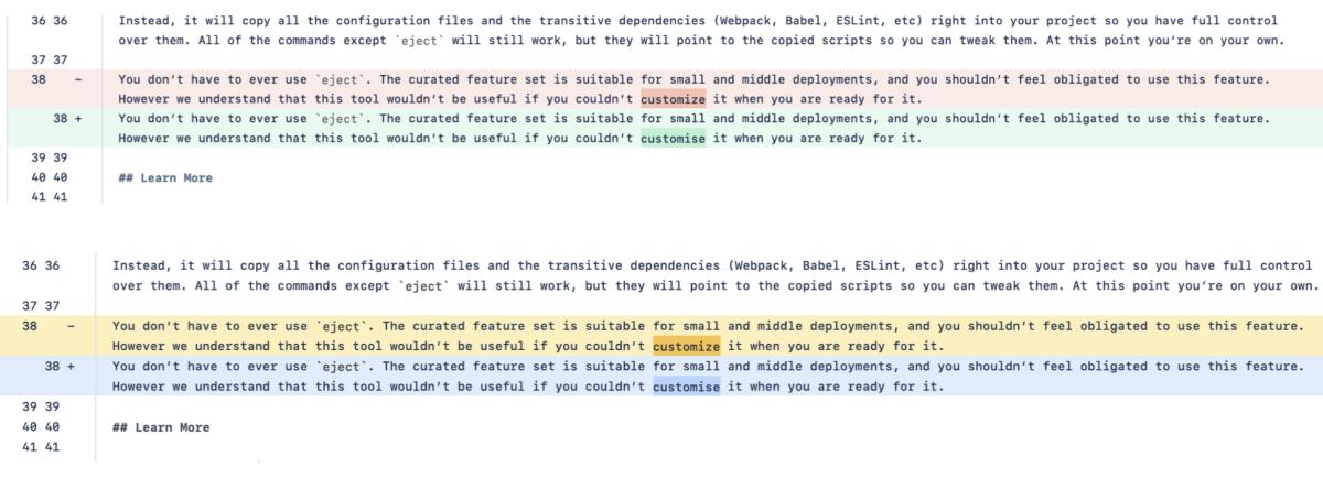Bitbucket Diffs Accessibility