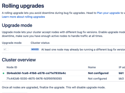 Bitbucket Data Center Rolling Upgrades
