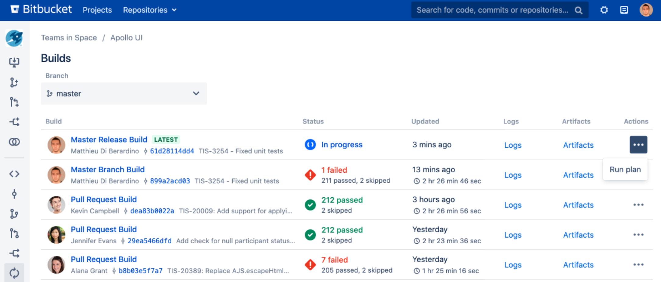Bitbucket Data Center rerun Builds