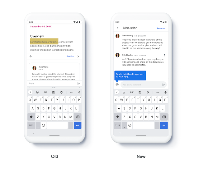 Neue Google-Oberfläche für Kommentare