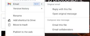 Google-Dokumente per E-Mail-Anhang versenden