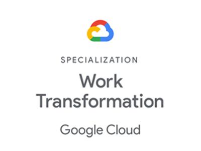 Google Spezialisierung für Arbeitstransformation Badge