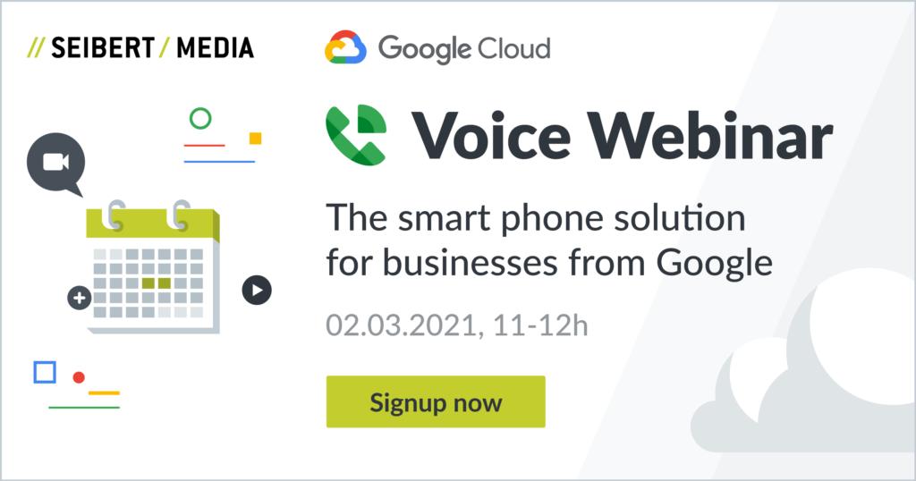 Google Voice Webinar