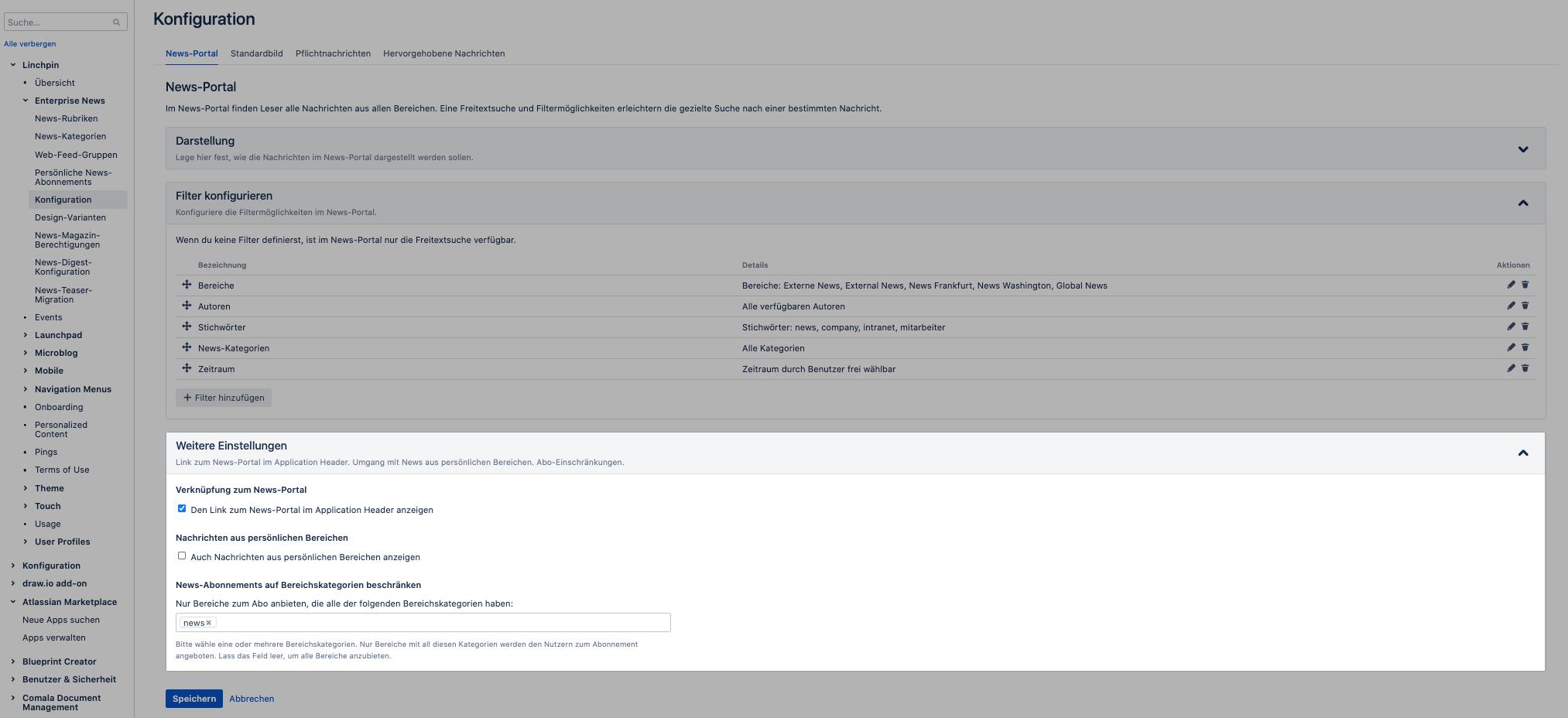Bessere Abonnementverwaltung im News-Portal von Linchpin