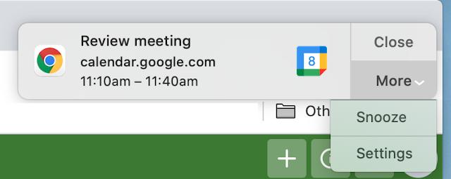 Wie man Benachrichtigungen von Google Calendar snoozed