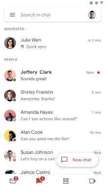 Kontakte werden nach Meetings in Google Chat vorgeschlagen