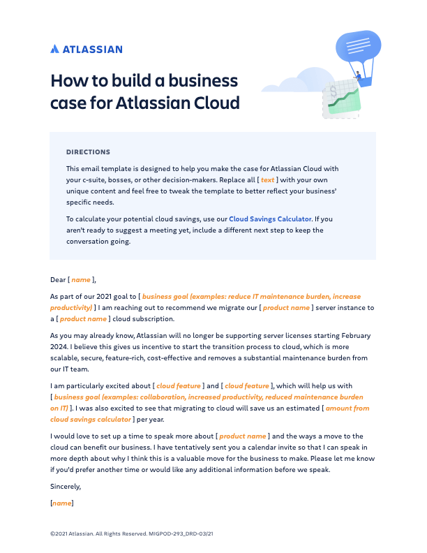 Atlassian Cloud Business Case Toolkit