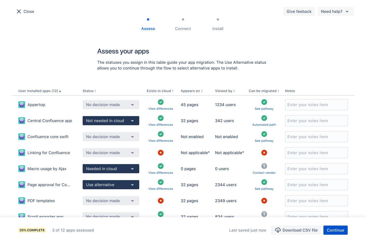 Atlassian Cloud assess-your-apps