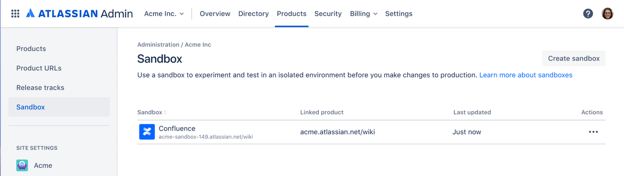 Atlassian Cloud Sandbox