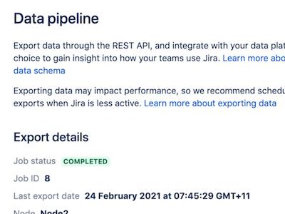 Atlassian Data Center Data Pipeline