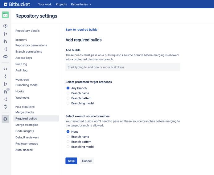 Bitbucket Merge Checks